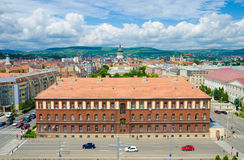 Une partie de centre de la ville de Cluj Photos stock