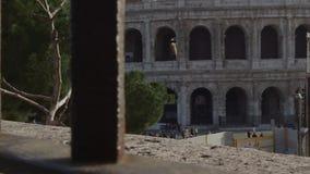 une partie de colosseum Rome banque de vidéos