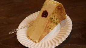 Une partie de gâteau au fromage Image libre de droits