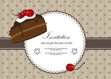 Une partie de gâteau de chocolat Illustration de Vecteur