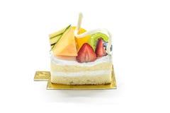 Une partie de gâteau de fruit Images libres de droits