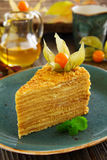 Une partie de gâteau de miel Photo stock