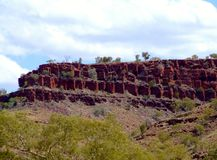 Une partie de gorge de yampire près de l'aust occidental de gorge de wittenoom images stock