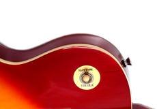 Une partie de guitare électrique de vintage Images libres de droits