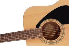 Une partie de guitare en bois Images stock