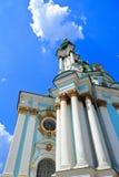 Une partie de l'église du St Andrew de façade, Kiev, Ukraine Image libre de droits