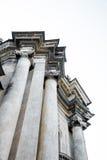 Une partie de la cathédrale dominicaine, Lviv, Ukraine Colonnes de fragment image stock