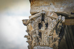 Une partie de la colonne romaine Image libre de droits