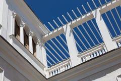 Une partie de la façade du bâtiment blanc Photographie stock