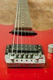 Une partie de la guitare électrique Images stock