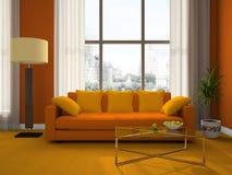 Une partie de la salle de séjour moderne illustration de vecteur