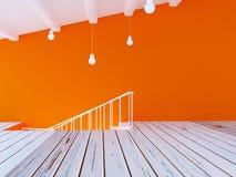 Une partie de la salle, escaliers, 3d Image libre de droits