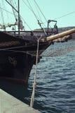Une partie de la tige du ` s de bateau avec une sirène Images libres de droits