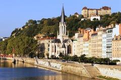 Une partie de la ville de Lyon Image libre de droits