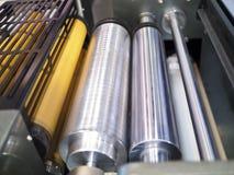 Une partie de machine d'impression Images stock