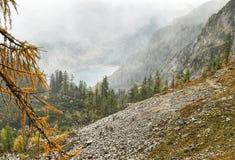 Une partie de montagne de Dachstein dans Salzkammergut, Autriche Photographie stock libre de droits
