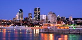 Une partie de Montréal au crépuscule photo stock