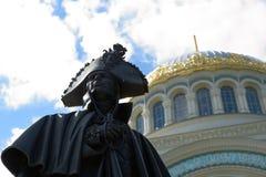 Une partie de monument à amiral russe Fyodor Ushakov Sea Photographie stock