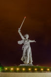 Une partie de monument de Mamaev Kurgan et de la mère patrie dans Stalingrad le 23 février, le 9 mai Photographie stock libre de droits