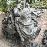 Une partie de monument des privilèges de concession de Dusseldorf images libres de droits