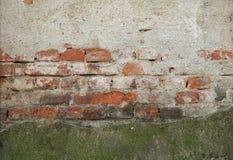 Une partie de mur de briques Fond abstrait et texturisé photos stock