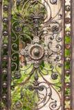 Une partie de porte rouillée photos stock