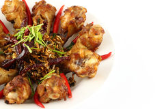 Une partie de poulet frit d'herbe épicée Photo stock