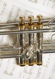 Une partie de trompette photographie stock libre de droits