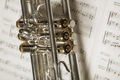 Une partie de trompette photos stock