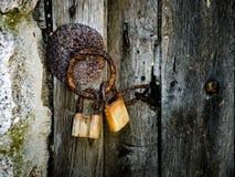 Une partie de vieille porte en bois Photo libre de droits