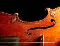 Une partie de violon de cru Image stock