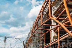 Une partie du bâtiment est en construction Photo stock