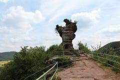 Une partie du château de Drachenfels en Allemagne Images stock