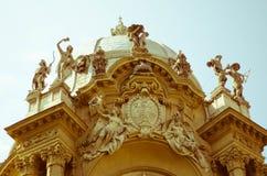 Une partie du château de Vajdahunyad, château à Budapest Photographie stock