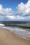 Une partie du littoral polonais. Photographie stock