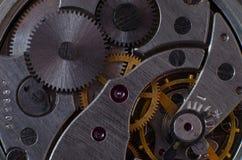 Une partie du mécanisme d'une montre de poche Photographie stock libre de droits