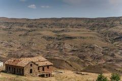 Une partie du monastère de Gareji de davier photo stock