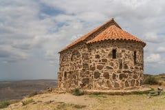 Une partie du monastère de Gareji de davier dans Kakheti image libre de droits