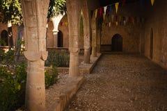 Une partie du monastère médiéval d'Agia Napa image stock