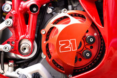 Une partie du moteur de la moto Photo libre de droits