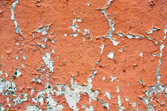 Une partie du mur avec la peinture fané et d'épluchage Image libre de droits