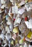 Une partie du mur couvert de messages d'amour en maison de Juliet, Vérone, Photographie stock