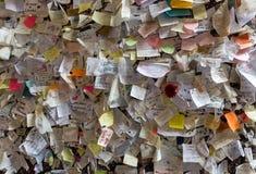 Une partie du mur couvert de messages d'amour en maison de Juliet, Vérone, Photographie stock libre de droits