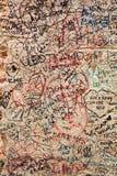 Une partie du mur couvert de messages d'amour en maison de Juliet, Vérone, Photo libre de droits