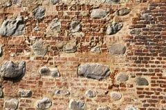 Une partie du mur de la forteresse Photographie stock