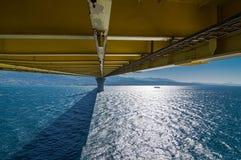 Une partie du pont d'Eleftherios Venizelos, Grèce occidentale Photographie stock libre de droits