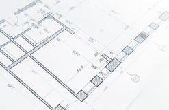 Une partie du projet architectural photo libre de droits