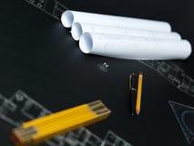 Une partie du projet architectural illustration de vecteur
