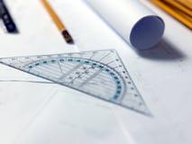 Une partie du projet architectural illustration libre de droits