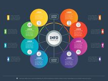 Une partie du rapport avec des icônes réglées Vecteur infographic du technol illustration de vecteur